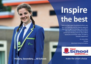 'Inspire the best' school uniform brochure