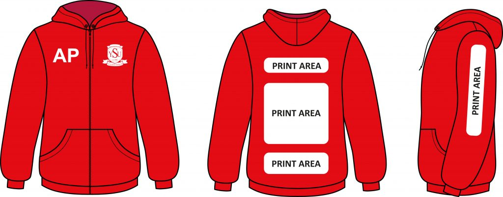 Print and Embroidery Positions on Clothing