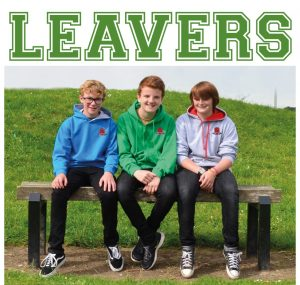 Photo of teenagers wearing leavers hoodies
